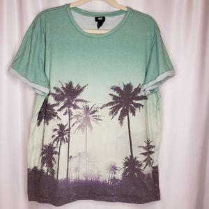 H&M Palm Tree Short Sleeve Tee